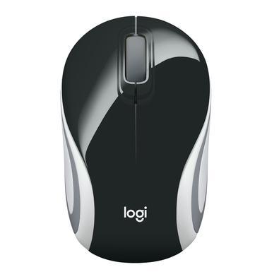 Mini Mouse sem fio Logitech M187 com Design Ambidestro, Conexão USB e Pilha Inclusa, Preto - 910-005459