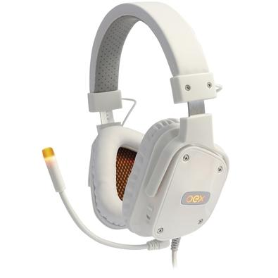 Headset Gamer Oex Game Shield, LED, 7.1 Surround, Drivers 40mm, Branco - HS409