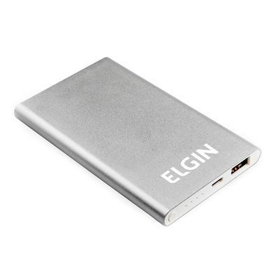 Kit Carregador Elgin Bateria Portátil 3000mAh + Veicular + Cabo Micro USB 1 metro - Branco + Suporte Veicular