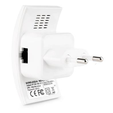 Roteador Repetidor Multilaser Mini 300Mbps com WPS Branco - RE055