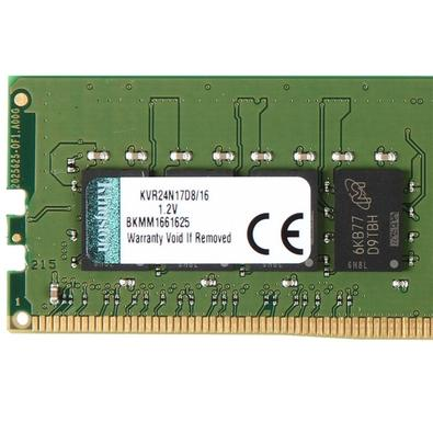 Memória Kingston 16GB, 2400MHz, DDR4, CL17 - KVR24N17D8/16