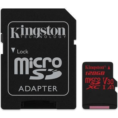 Cartão de Memória Kingston Canvas React MicroSD 128GB Classe 10 com Adaptador - SDCR/128GB