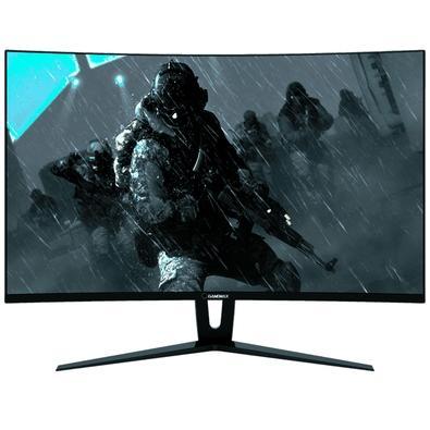 Monitor Gamer Gamemax LED 27´ Widescreen Curvo, Full HD, HDMI/DVI/Display Port, FreeSync, Som Integrado, 144Hz, 1ms - GMX27C144
