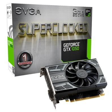 Placa de Vídeo VGA EVGA NVIDIA GeForce GTX 1050 SC Gaming 3GB GDDR5 ACX 2.0 (Single Fan) - 03G-P4-6153-KR