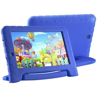 Tablet Multilaser Kid Pad Plus, 8GB, Quad Core, Android 7, Wi-Fi, Tela 7´, Azul - NB278