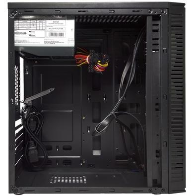 Gabinete Bluecase BG-2514 com Fonte 250W, USB 3.0, Preto com Lateral em Acrílico - BG2514GCASE