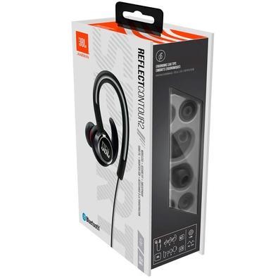 Fone de Ouvido Bluetooth JBL Esportivo Reflect Contour 2, Preto - JBLREFCONT2BLKBR