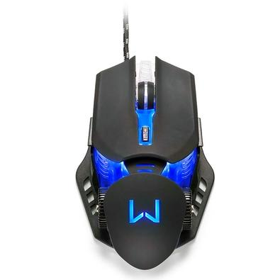 Mouse Gamer Warrior Keon, LED 4 Cores, 3200 DPI, Preto - MO267