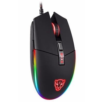 Mouse Gamer Motospeed V50, RGB Backlight, 4000 DPI, Preto - FMSMS0005PTO