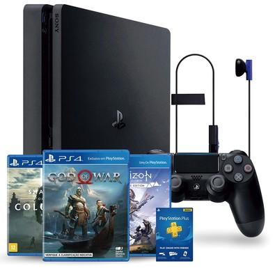 Console Sony PlayStation 4 1TB Slim Hits Bundle v4 - God Of War + Horizon Zero Dawn Complete Edition + Shadow of the Colossus