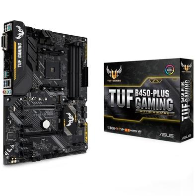 Placa-Mãe Asus TUF B450-Plus Gaming, AMD AM4, ATX, DDR4