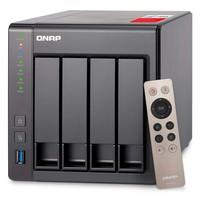 Storage QNAP NAS Intel Celeron, Quad-Core 2.0GHz, 8GB, DDR3L, 4 Baias Sem Disco - TS-451+-8G