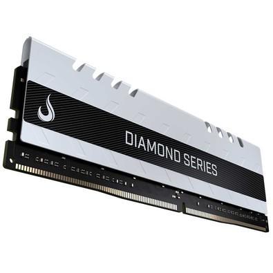 Memória Rise Mode Diamond, 4GB, 3000MHz, DDR4, CL15, Branco - RM-D4-4GB-3000DW