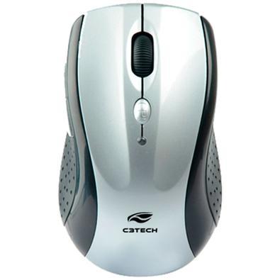 Mouse Sem Fio C3 Tech, Preto e Prata - M-W012SI V2