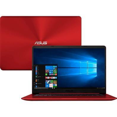 Notebook Asus VivoBook 15, Intel Core i5-8250U, 4GB, 1TB, Windows 10 Home, 15.6´, Vermelho - X510UA-BR666T