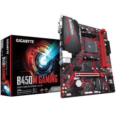 Placa-Mãe Gigabyte B450M Gaming, AMD AM4, mATX, DDR4 (Rev. 1.0)