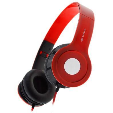 Headset C3 Tech Dobrável, Vermelho - PH-100RD