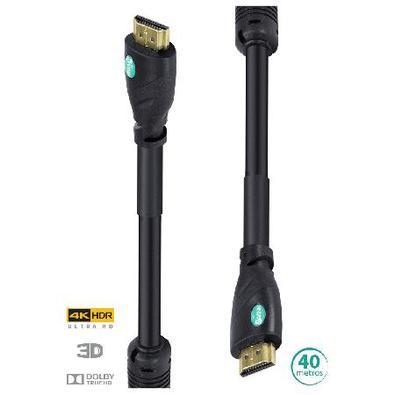 Cabo Hdmi 2.0 4K Ultra Hd 3D Conexão Ethernet Com Filtro 40 Metros - H20f-40