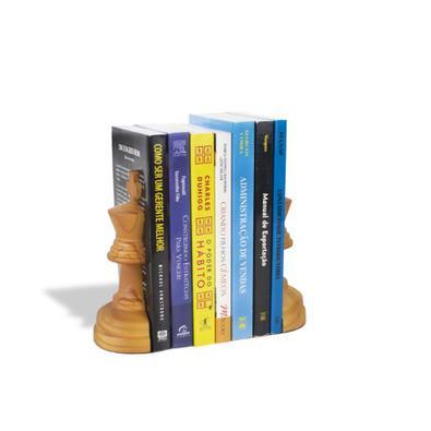 Aparador de Livros Rei Xadrez Pinus Escuro