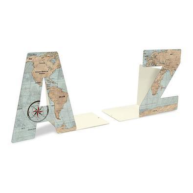 Aparador de Livros Mapa Mundi