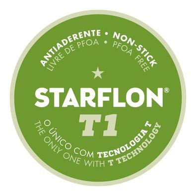Assadeira Rasa Tramontina Brasil Alumínio Revestimento Antiaderente Starflon T1 Grafite 28 cm 2 L Tramontina
