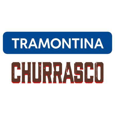 Escova Tramontina Churrasco com Cerdas em Aço Inox e Cabo de Polipropileno Preto 44 cm Tramontina