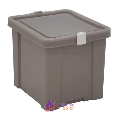 Caixa Organizadora 30L Cinza Basic Tramontina