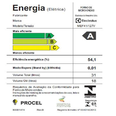 Forno Micro-Ondas Meus Favoritos, 31L, 220V, ELECTROLUX - MEF41