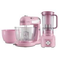 Kit Cozinha Britânia Cristal Pink Concept, 127V - BKT21
