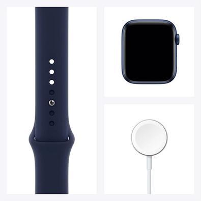 Apple Watch Series 6 S6, 44mm, GPS, Alumínio, Pulseira Sport, Azul - B08J5Y89C7