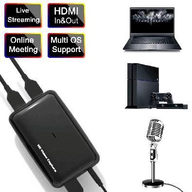 Placa de Captura e Transmissão Ezcap, 301, HDMI, para USB 3.0 UVC 1080p60, Streaming Live Gamer