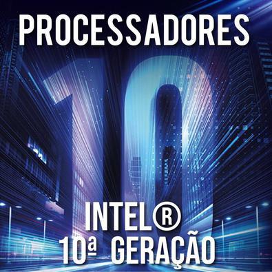 Computador Skill Completo, Intel 10ª Geração Core i3 10100, Monitor 21.5