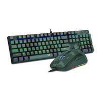 Kit Gamer Redragon Teclado Mecânico Gamer Rainbow ABNT2 Camuflado + Mouse Gamer - S108 PT-DARK GREEN
