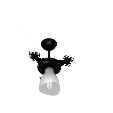 Ventilador De Teto Cristal Light 3p Pto/Transp 127v - 127V