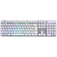 Teclado Oex Gamer Prismatic, ABNT2, LED Rainbow, Branco - TC205