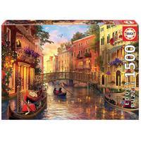 Quebra-Cabeças Grow Educa, Puzzle 1500 peças, Entardecer em Veneza, Importado