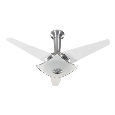 Ventilador De Teto Tron Quadrimax 3 Pás, Branco E Alumínio, 220V