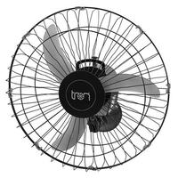 Ventilador De Parede Tron Oscilante C1 50Cm 140W, Preto, 220V