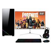 PC Gamer Completo XP, Intel Core i5, 8GB, (Placa de vídeo Geforce GT 1030 2GB), SSD 240GB, 500W, 3green Monitor 21,5 Prata, 75Hz - Linux