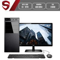 Computador Skill HomeJob Completo Intel Core i3 9ª Geração, 4GB, DDR4, Monitor 19.5´, SSD 240GB, GeForce GT, ASUS