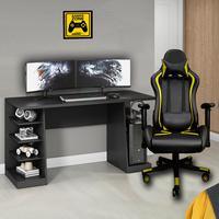 Kit Bela Cadeira Escritório Gamer MoobX Thunder  Deluxe + Mesa Gamer Profissional XP