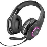 Headset Gamer Torus Som Potente RGB Led Personalizável Microfone Rebatível Cabo 2.2m Trust GXT 455