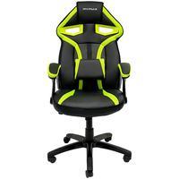 Cadeira Gamer Giratória MX1 MyMax, Suporta 120Kg, Preto/Verde