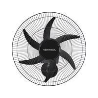 Ventilador de Parede Ventisol Turbo 6 Steel, 6 pás, 200W - Bivolt