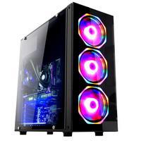 Computador Gamer Fácil Intel Core i5-9400F Nona Geração 4.1GHz, 8GB DDR4, HD 500GB, AMD Radeon RX 550 4GB, Fonte 500W, Windows 10