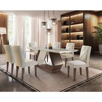 Conjunto Sala de Jantar Lara com 6 Cadeiras Berlim Rufato