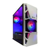Gabinete Gamer Branco Maxxtro, 4 Fan Led RGB - 3303W