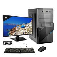 Computador Completo Icc Core I3 8gb Hd 240gb Ssd Dvdw Monitor 19 Windows 10