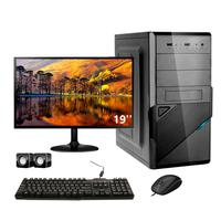"Computador Completo Corporate I3 8 Gb De Ram Hd 2 Tb "" Monitor 19"