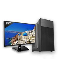 Computador Completo Icc Intel Core I3 4gb Hd 2tb Windows 10 Monitor 15